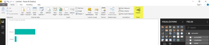 publish it on WorkSpace of PowerBI