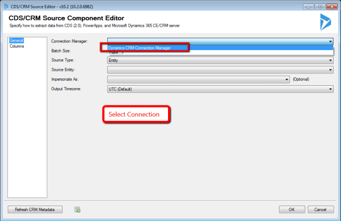 Dynamics CRM Connection Manager
