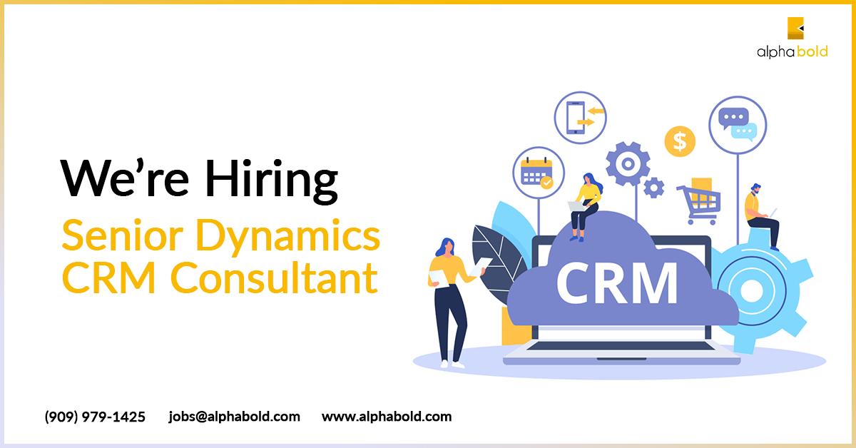 hiring senior crm consultant