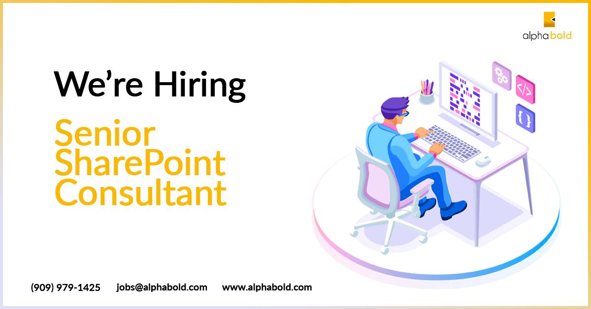 hiring senior sharepoint consultant