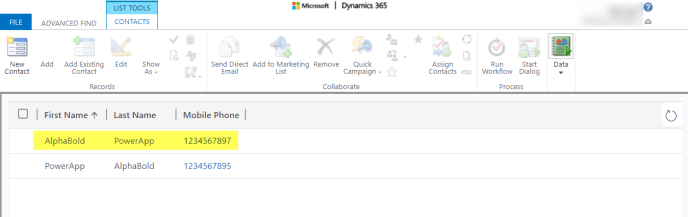 verify it in Dynamics 365 CRM