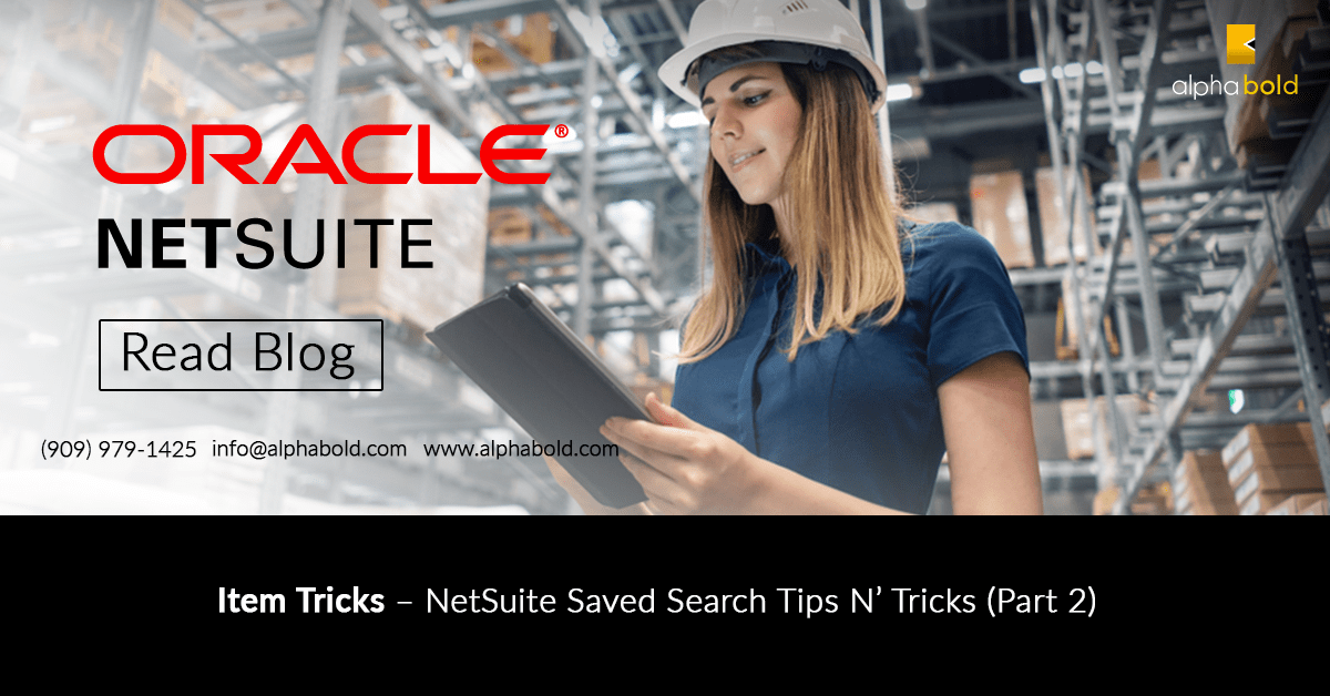 netsuite items saved search