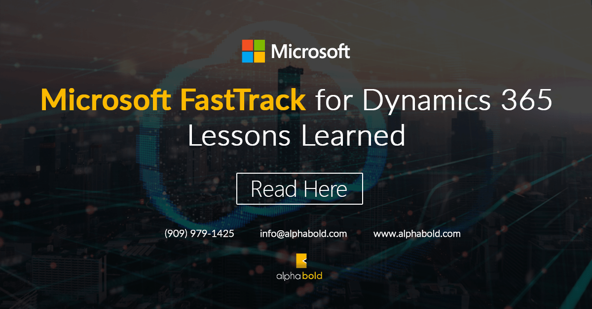 Microsoft FastTrack for Dynamics 365 Learnings