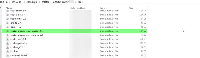 Plugin Jar files to JMeter 5