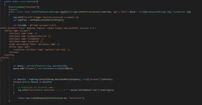 Task Function code