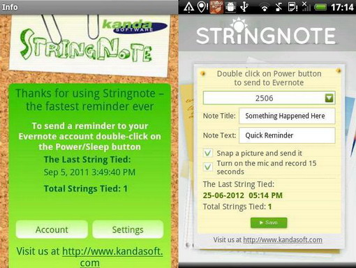 stringnote screenshot