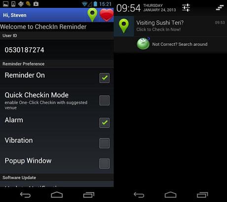 Checkin Reminder screenshot 2
