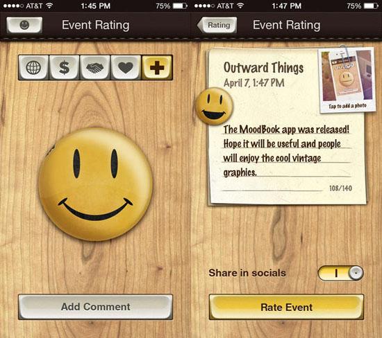 MoodBook screenshot