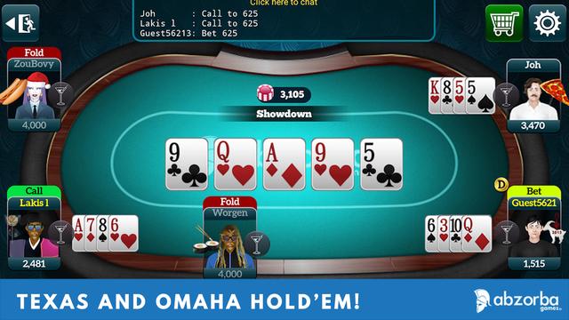 Poker Live Omaha & Texas screenshot