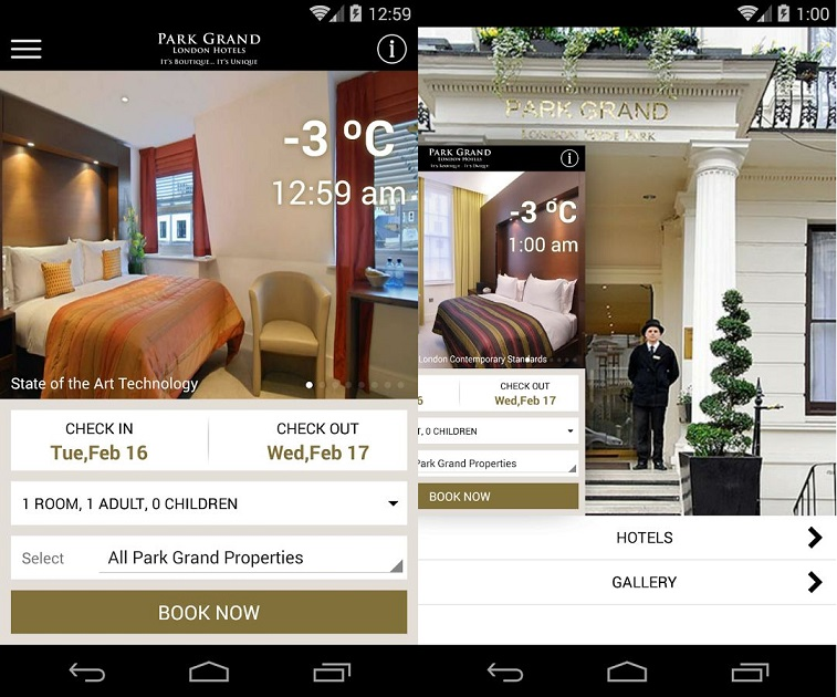 Park Grand London hotels screenshot