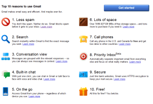 ten reasons to use gmail