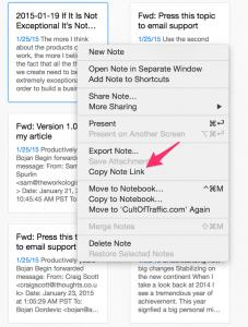 Evernote OS X Integration