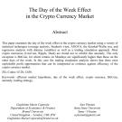 تأثير أيام الاسبوع في أسواق العملات الرقمية