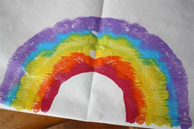 St. Patrick's Day Craft: Rainbow Prints