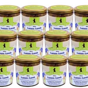weide-lamm-300g-12er-sparpaket-getreidefreies-purinarmes-glutenfreies-hundefutter-glas-muskelfleisch-suesskartoffel-schwarzwurzel-rote-beete-preiselbeere-alpha-natural