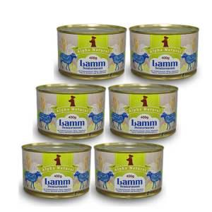 weide-lamm-senior-400g-6er-testpaket-purinarmes-getreidefreies-glutenfreies-hundefutter-dose-muskelfleisch-schwarzwurzel-kartoffel-birne-hagebutte-papaya-alpha-natural