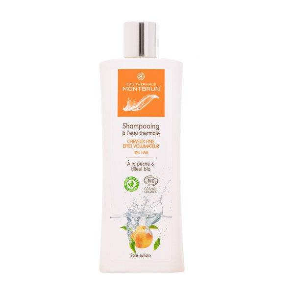 Shampooing traitant bio pour cheveux fins - Eau Thermale Montbrun