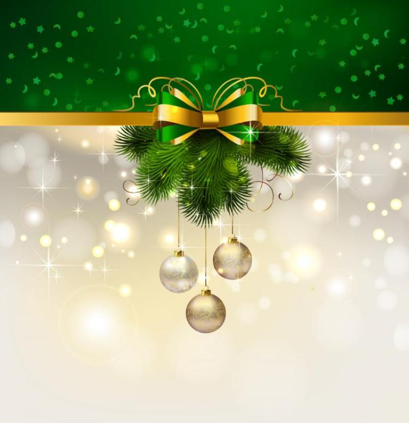 free vector christmas decoration background 04 vector 014899 4