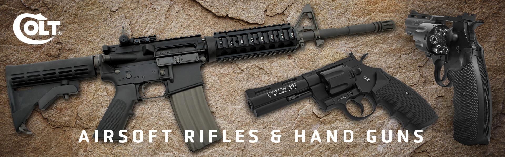 Airsoft Rifles & hand guns