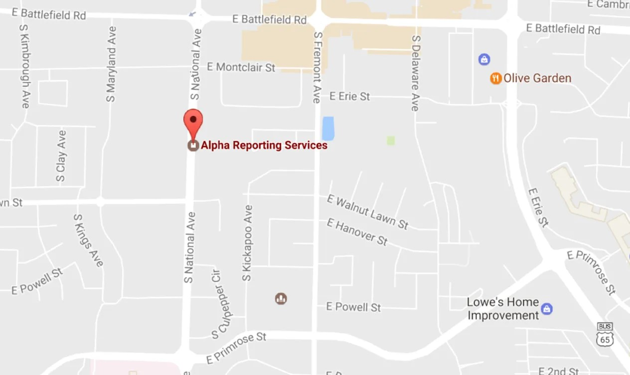 Alpha Court Reporting Springfield MO