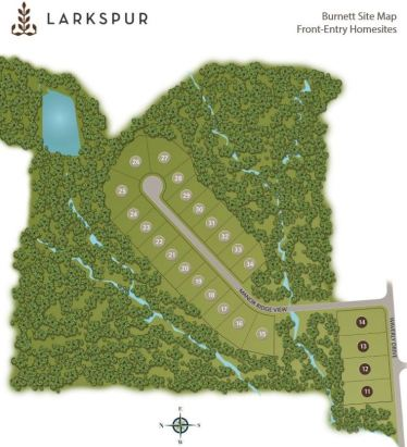ALpharetta Home Site Plan Larkspur Community