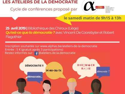 Les Ateliers de la Démocratie, 1re séance :  Qu'est-ce que la démocratie ?