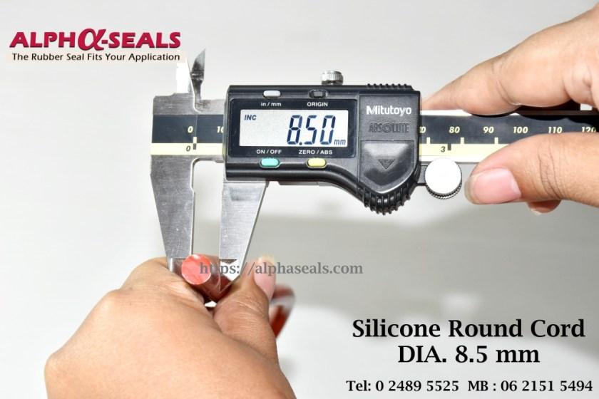 Silicone Round Cord DIA. 8.5 mm