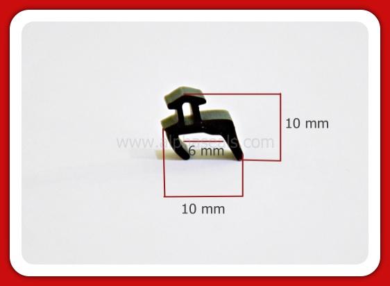รับผลิตซีลยางขอบกระจกร่อง 6 mm