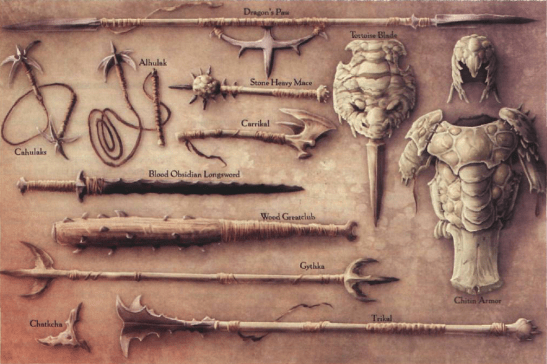 Athasian weapons