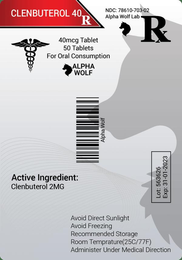 Clenbuterol 40MCG 50CT