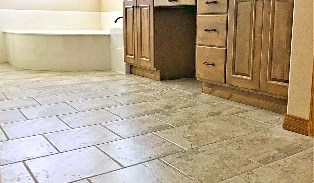 hardwood tile installation in