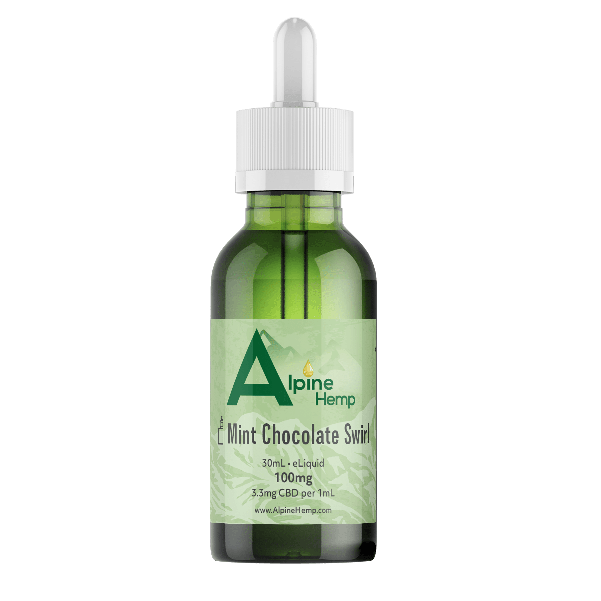 alpine hemp eliquid, vape refill, vape, hemp extract, vape juice, mint chocolate