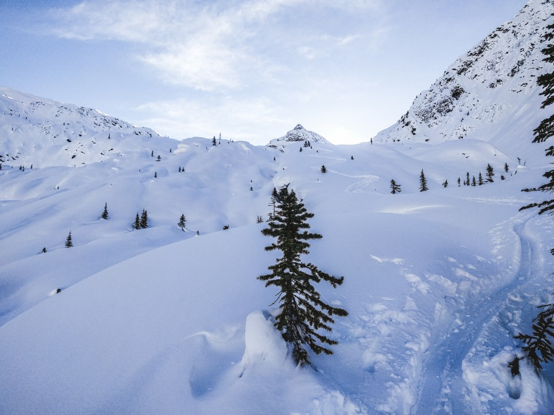 Perfect Terrain towards Lookout Col