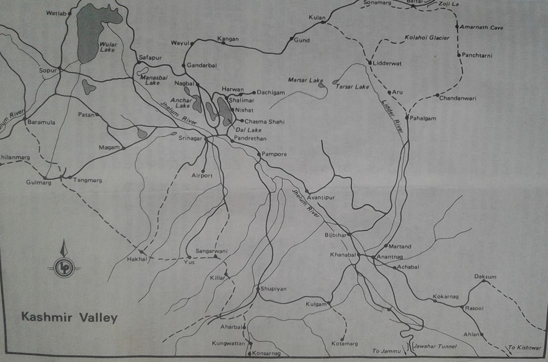 Kashmir popular trekking routes