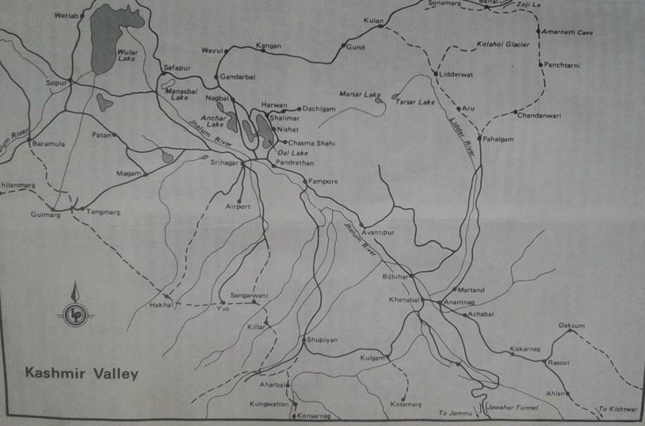 Kashmir popular trekking routes