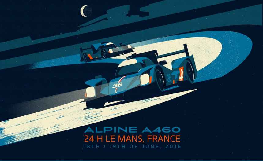 Alpine Cars Posters