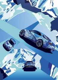 Alpine A120 AS1 affiche salon FIAC Paris - 1
