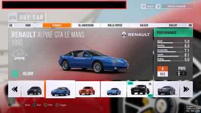 Alpine GTA Le Mans Turn 10 Forza Horizon 3 - 2