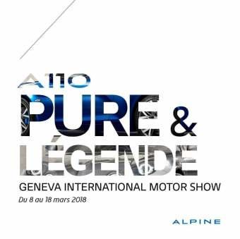 Alpine A110 Pure Légende Salon Genève GIMS 2018