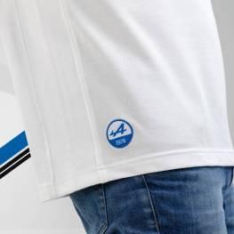 polo homme manches courtes blanc 2 Alpine Collection 1978 boutique anniversaire 40 ans 24 heures du mans