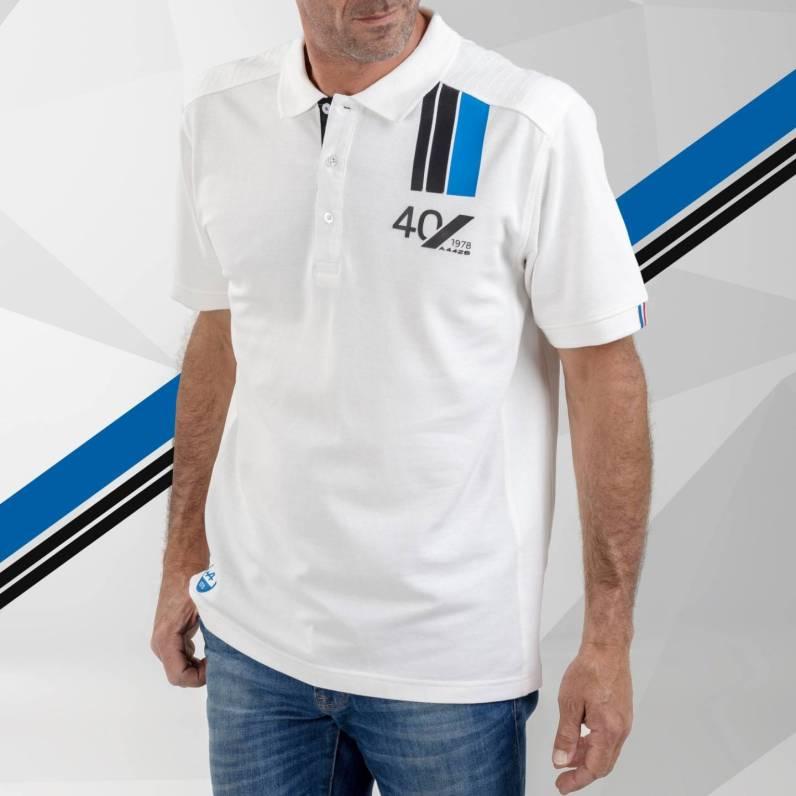 polo homme manches courtes blanc 4 Alpine Collection 1978 boutique anniversaire 40 ans 24 heures du mans