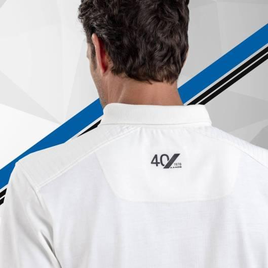 polo homme manches longues blanc 2 Alpine Collection 1978 boutique anniversaire 40 ans 24 heures du mans