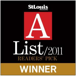 2011 St. Louis Magzine A-List Readers' Pick Winner