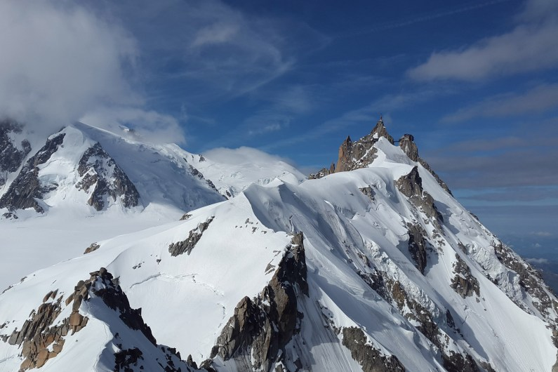 Aiguille du midi above Chamonix Mont Blanc