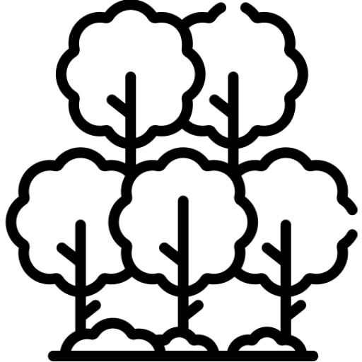 crowded trees icon