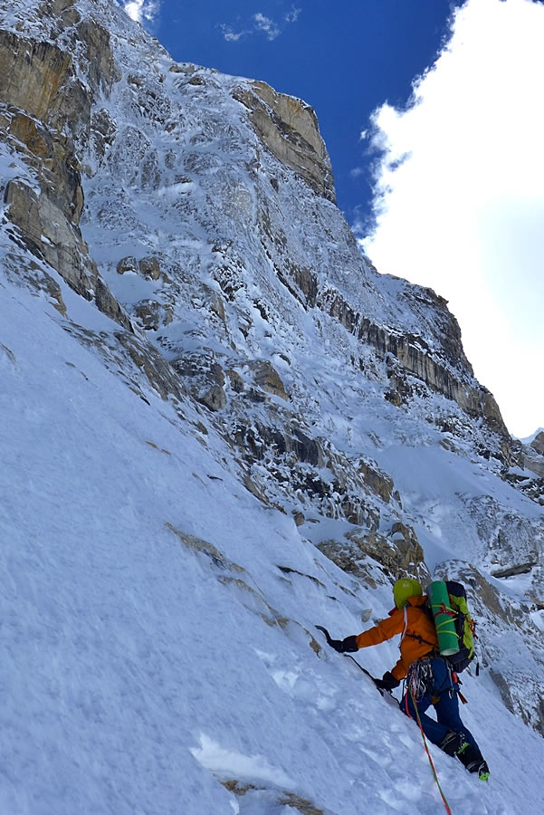 Bullock approaches the steep stuff on day two. [Photo] Paul Ramsden