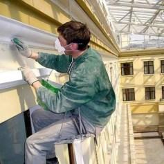 Ремонт и покраска фасада альпинистами