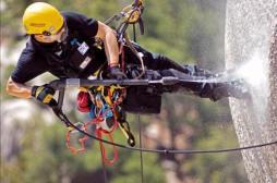 Обеспыливание конструкций альпинистами