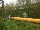 Покраска газовых труб