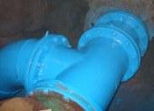 Покраска газовых труб альпинистами